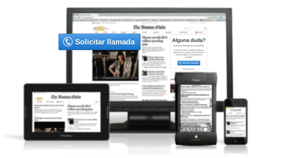 Click para generar una llamada de Call Center