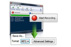 Interfaz web grabación de llamadas